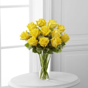 The Yellow Rose Bouquet by FTD - VASE INCLUDED